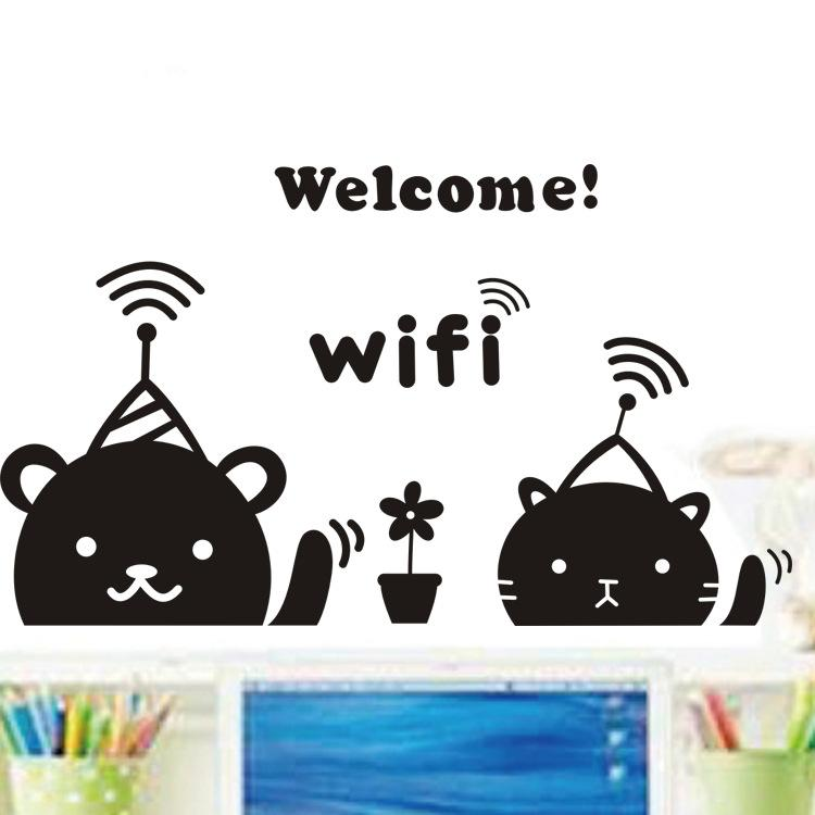 Wall Art Sticker Bedroom Letter DIY Kids Rooms Decoration Wall Decals Home  Decor Welcome Wifi Sticker Wall Art For Living Room Kids Vinyl Wall Art Kids  Wall ...
