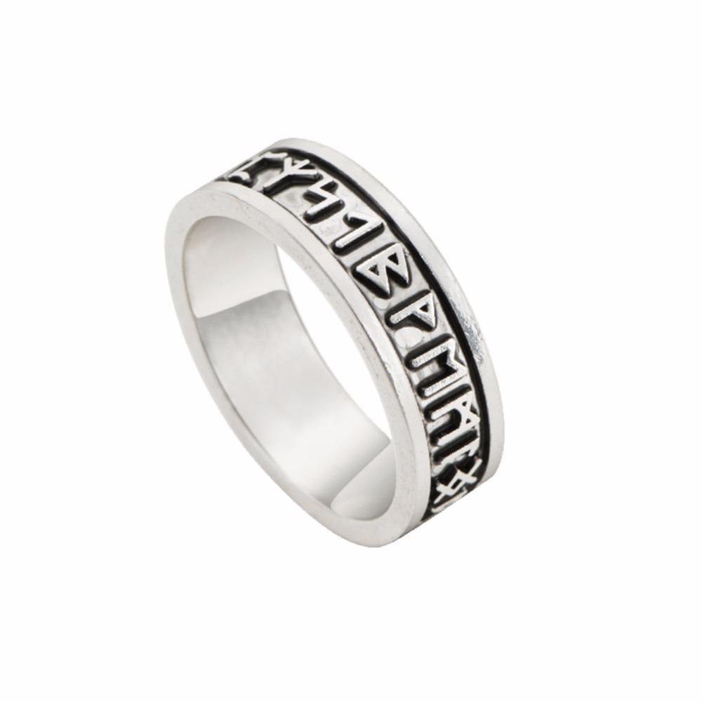 Grosshandel Viking Ringe Man Custom Rune Brief Ring Hochzeit Anel