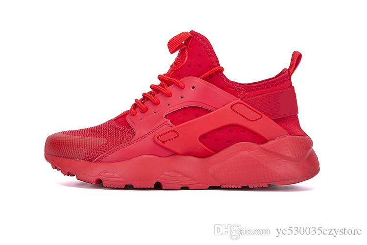 2d7f7b3bbae1 2019 New 2018 Air Huarache 4 IV Running Shoes For Women Mens Trainers All  Red Huraches Huaraches Run Ultra Multicolor Designer Sneakers From ...
