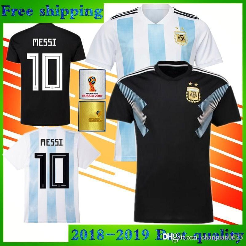 9909ef51b 2018 World Cup Argentina DI MARIA Soccer Jersey 2019 National Team Home  Blue And White Away Black OTAMEND DYBALA ICARDI Messi Football Shirt Soccer  Jerseys ...