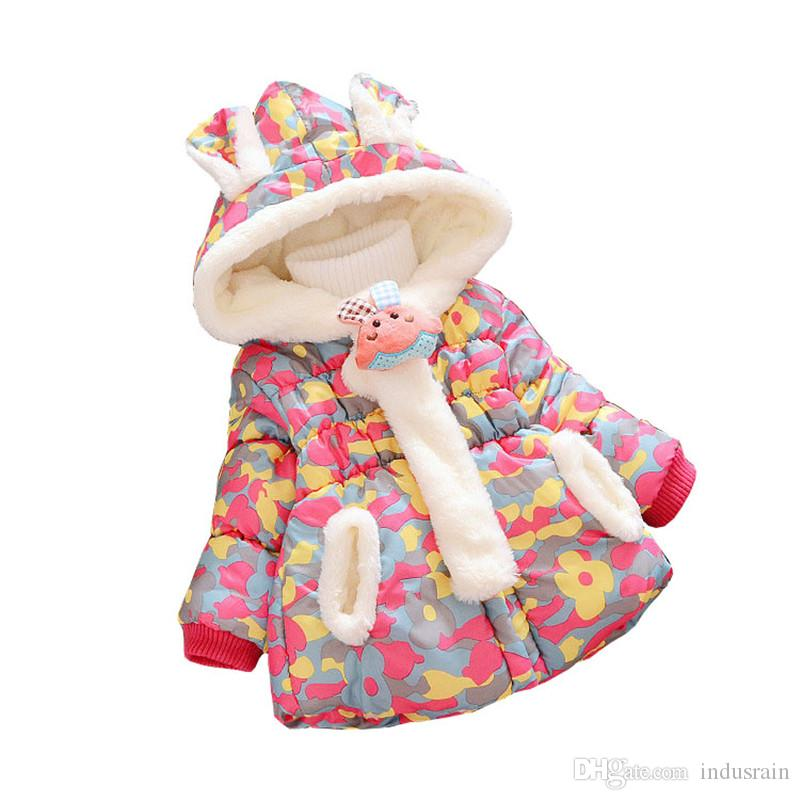 9ee0997d6 Baby Girls Coat Winter Jacket For Girls Infant Camouflage Jacket ...