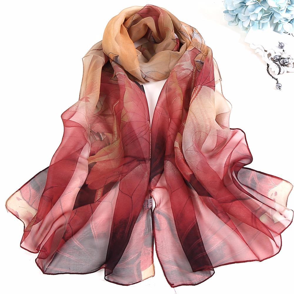 6cb3a5c90 2018 Scarf Women,Georgette Scarf,Printed Scarf,Muslim Hijab,Ultrathin Long Silk  Scarves,Beach Towe,Headband And Shawl,CapeFKR010 Bandana Material Tubular  ...