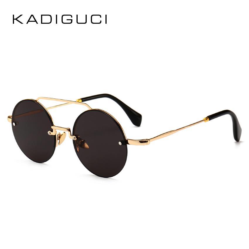 Compre Kadeguci Nova Pequena Rodada Mulheres Óculos De Sol Designer De  Marca 2018 Moda Vintage Preto Vermelho Senhoras Óculos De Sol Eyewear Uv400  K0216 De ... 68ed37f397