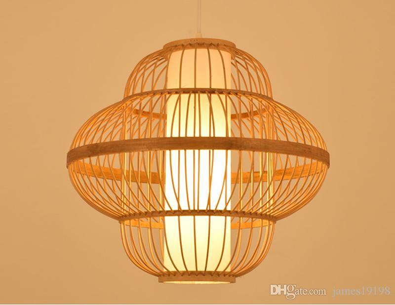Modern China Craft Bamboo Pendant Lamp Japanese Zen Tea Shop Pendant