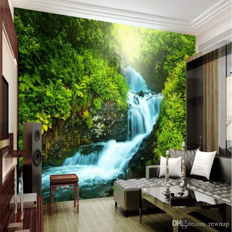 Wholesale Custom Nature Wallpaper 3d Stereoscopic 3d Photo