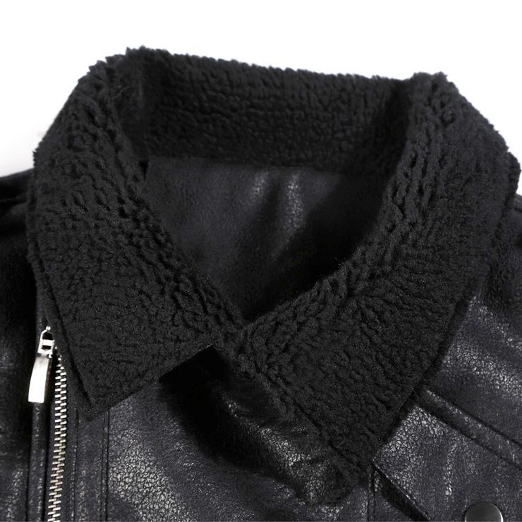 가짜 가죽 자켓 남성 모피 코트 두꺼운 따뜻한 오토바이 바이커 재킷 metrosexual 남자 슬림 코튼 겨울 브랜드 모직 자켓 새로운