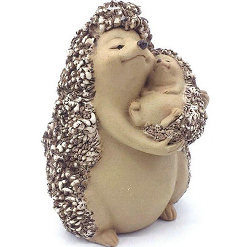 Nouveau petit hérisson créatif animaux décoration maison jardin résine  affichage enfants cadeaux famille