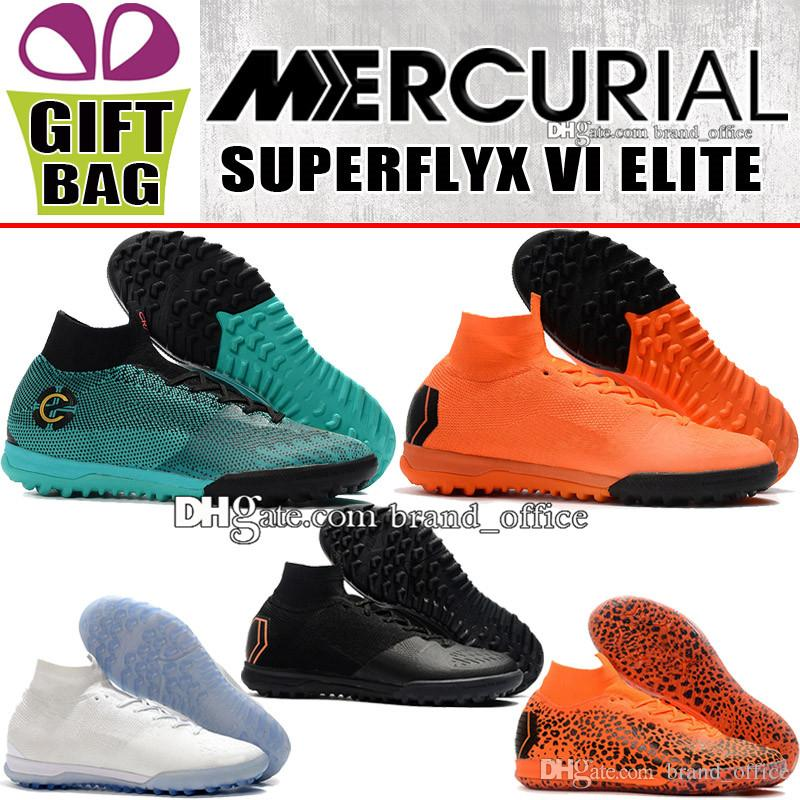 54559c18156 2018 New High Mens Mercurial SuperflyX VI Elite IC TF CR7 Soccer Boots  Cristiano Ronaldo Socks ACC Soccer Cleats Turf Football Shoes Boot Men  Soccer Shoes ...