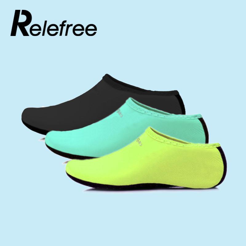 d14f4be2071b 2019 Relefree Men  Women Water Sport Shoes Nylon + Neoprene Mesh Aqua Socks  Yoga Exercise Pool Beach Dance Swim Slip Surfing Shoes From Lvmangguo