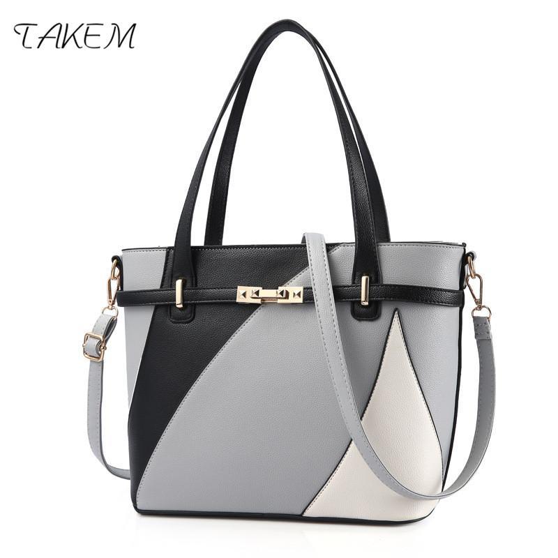 33675e438c TAKEM NEW 2018 High Capacity Luxury Handbags Women Bags Design Ladies  Handbag Crossbody Bags For Women Shoulder Bag Female Fashion Handbags Large  Handbags ...