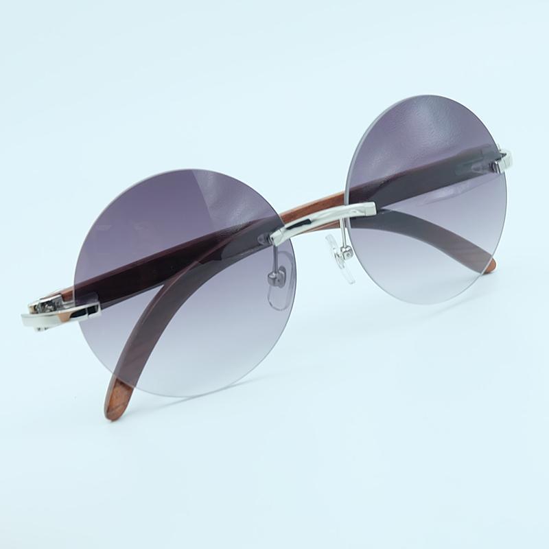 57bcac82649c8 Sunglaasses de madeira redonda retro sem aro óculos de armação homens e  mulheres do vintage padrão de óculos de sol design de condução de pesca  máscaras