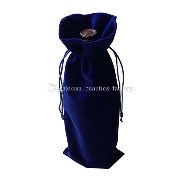50 Stücke Samt Weinflasche Taschen Velour Geschenkbeutel Hochzeit Gunsten 15X36 cm Taschen Weinrot Blau Khaki