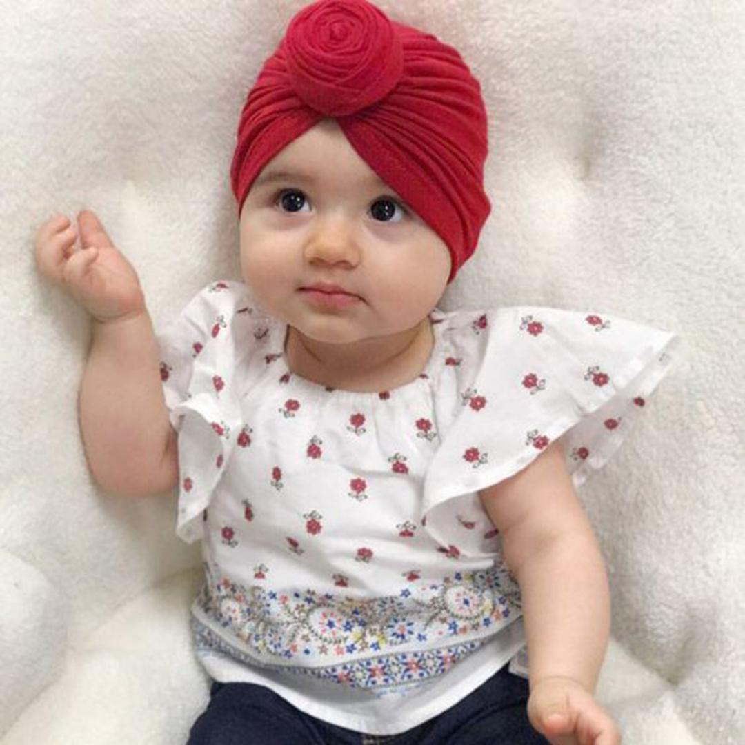 409721fd234 2019 Indian Baby Girls Boys Infant Toddler Cotton Soft Turban Knot Cap  Beanie Hat Winter Autumn Muslim Hat Bohemian Gorros From Vanilla14