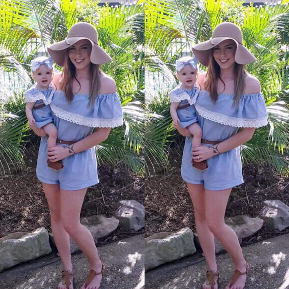 2017 Summer Family Clothing Mom and Daughter Dress Family Matching Outfits Dress for Kids and Women Mother Daughter Dresses