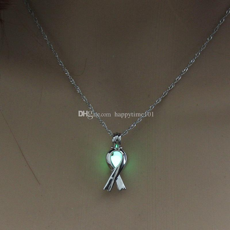 hot Luminous light cage necklace for women cute Scarves pendants necklaces Spot direct christmas love jewelry girl Christmas gift wholesale