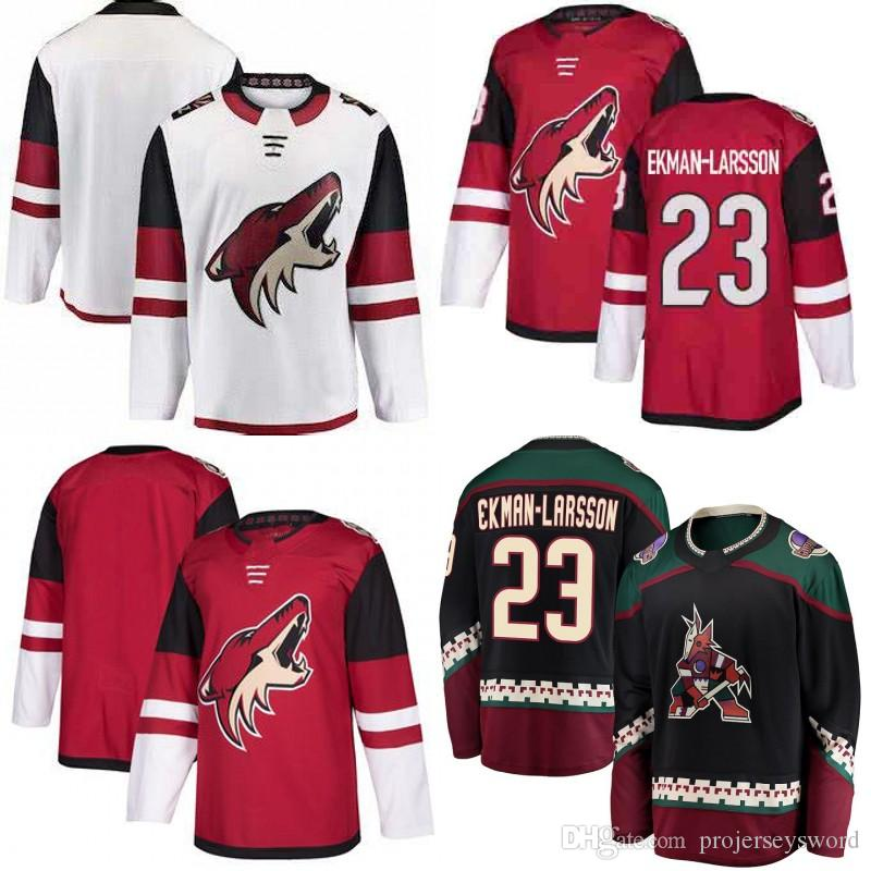2019 Mens Arizona Coyotes Third Black Jersey 23 Oliver Ekman Larsson 100%  Stitched Blank Hockey Jerseys Cheap Red White Black From Projerseysword 00aa4351541