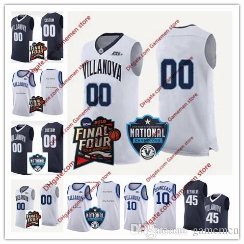 fecd7bb54 2019 Custom Villanova Wildcats 2018 NCAA Final Four 1 Kyle Lowry 14 Omari  Spellman 2 Collin Gillespie Navy White College Basketball Jersey From  Gamemen