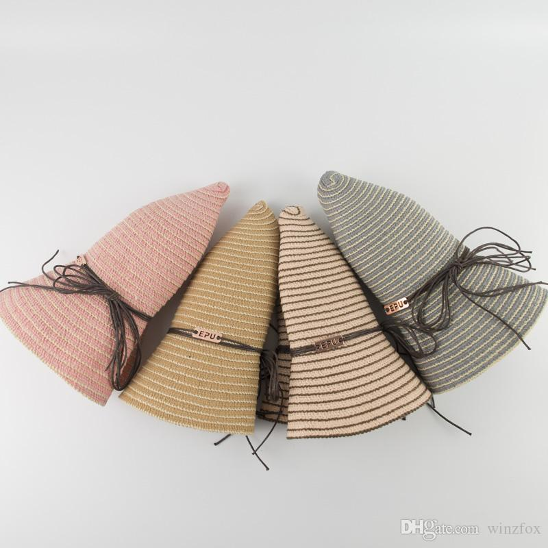 ee30b0e6a61 EPU MHStripe Everyday Carry Packable Soft Ladies Bucket Hats Womens EDC Floppy  Hat Cute Cotton Wide Brim Hats Baby Hats Bucket Hats For Men From Winzfox