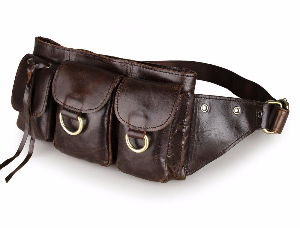 f09cf4da9c52 Fashion genuine leather waist Pack men leather waist Bag for men money belt  bag Bum fanny pack Pouch small Shoulder