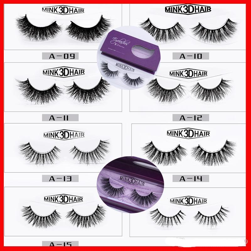 d83f7469888 3D Mink Eyelashes 20styles Makeup 100% Real Mink Natural Thick Fake False  Eyelashes Eye Lashes Women Duo Eyelash Glue Eylure Eyelashes From  Zhang110119, ...