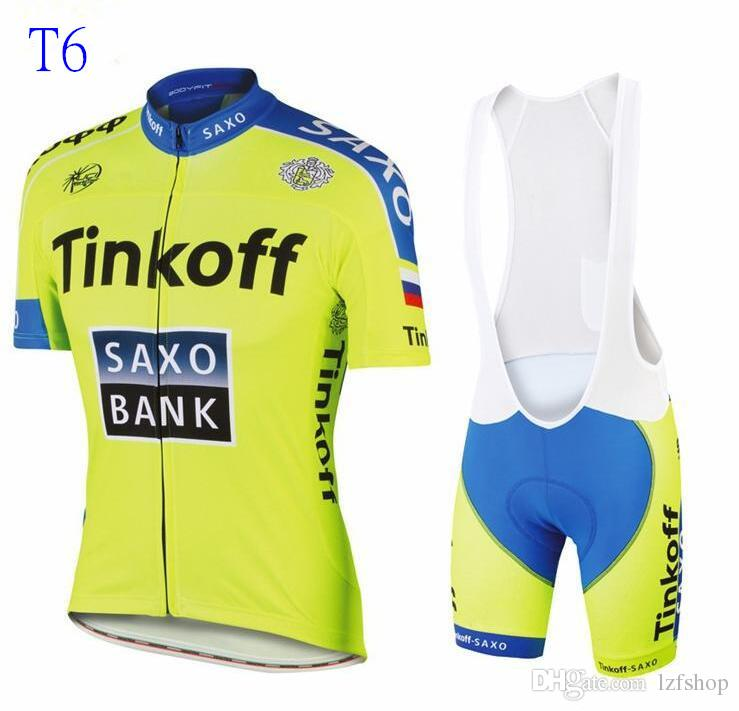 New Tour De France Cycling Jerseys Bike Suit Cycling Jersey Tinkoff ... 749f9ce00