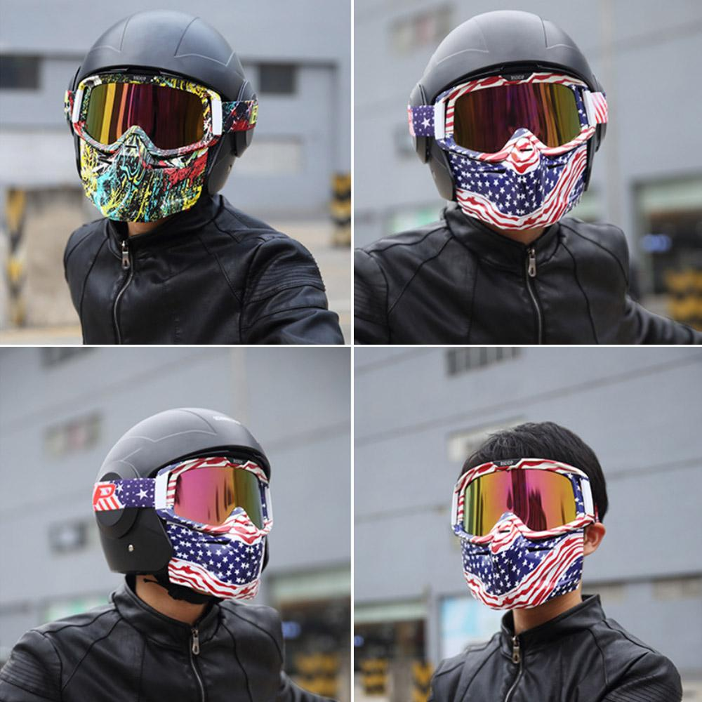 Bike Motorcycle Face Mask Goggles Motocross Motorbike Motor Open Face  Detachable Goggle Helmets Vintage Glasses Universal Dog Motorcycle Goggles  Eyeride ...
