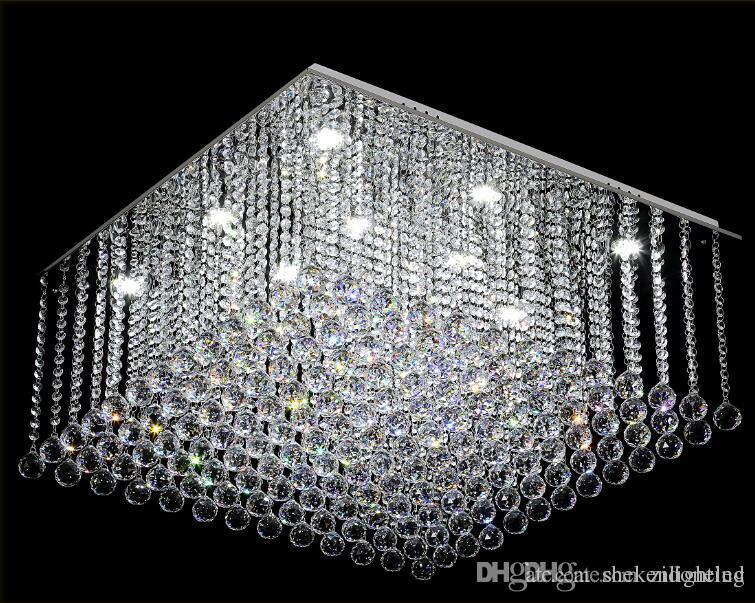 Kronleuchter Led Schwarz ~ Großhandel zeitgenössische square crystal kronleuchter k9 crystal
