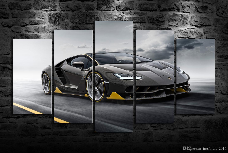Newest Hd Printed Lamborghini Centenario Oil Painting Home