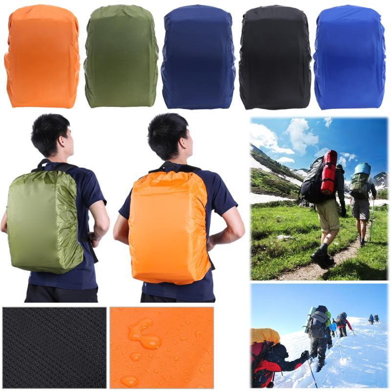 08c9efdff3 2019 Hiking Bag Nylon Rain Cover 35L Camping Hiking Outdoor Bags Waterproof  Backpack Dust Rain Cover Travel Kits Rucksack Protector From Sports1234