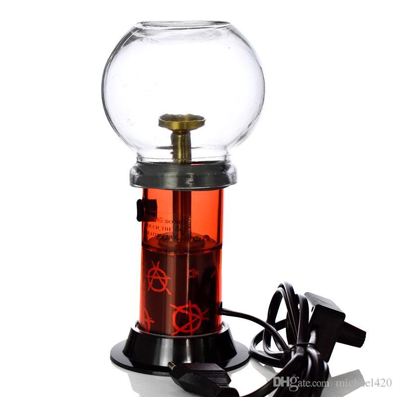 220V 패션 TOP 최신 전자 초본 담배 녹색 아로마 테라피 물 담뱃대 거대한 증발기 건조 허브 3 색 가벼운 난방 조절