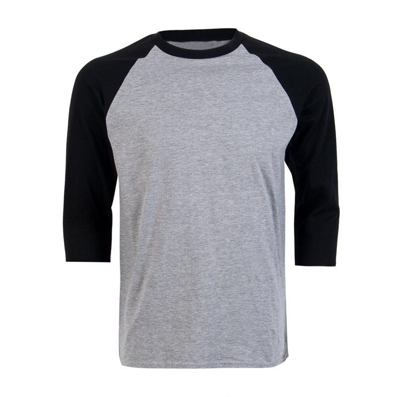 58241f5d395 Wholesale New Raglan 3 4 Sleeve Baseball Mens Plain Tee Casual T Shirt S  3XL Cool T Shirt Buy Shirts Online From Sikaku
