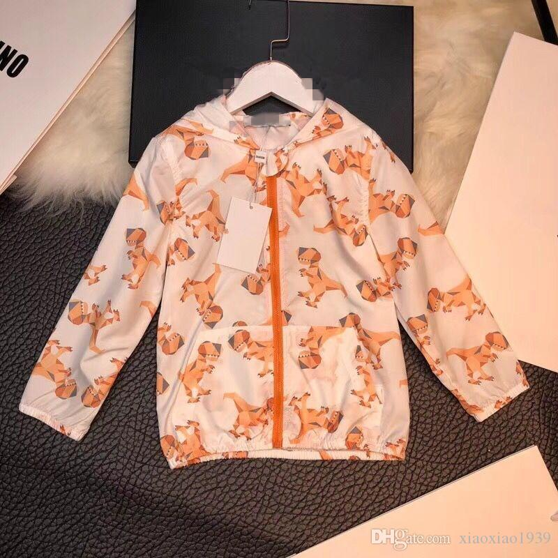 2018 New spring&summer boys girls jackets casual hooded outerwear for girls fashion zipper kids Sunscreen clothing