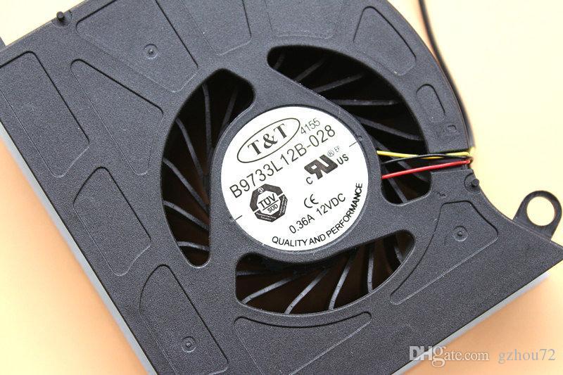 جديد الأصلي tt B9733L12B-028 dc12v 0.36a ل msi GX60 GT60 16F محمول مروحة التبريد