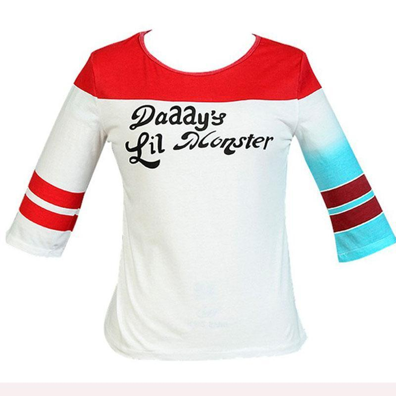 a31e6d5ff48 Fashion Suicide Squad Harley Quinn Daddy€S Lil Monster T Shirt Halloween  Joker Shirts Cosplay Costumes For Adult Women Female 858815 Shirt Custom T  Shirts ...