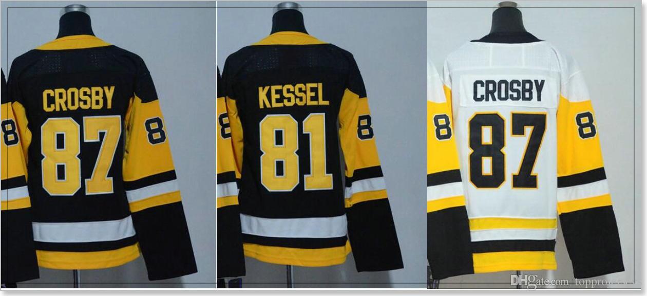 b06f7a7b7 Acheter Womens   81 Phil Kessel 87 Sidney Crosby Pittsburgh Uniformes  Hockey Sur Glace Chemises Pro Sports D équipe Cheap Jerseys Cousu Broderie À  Vendre De ...