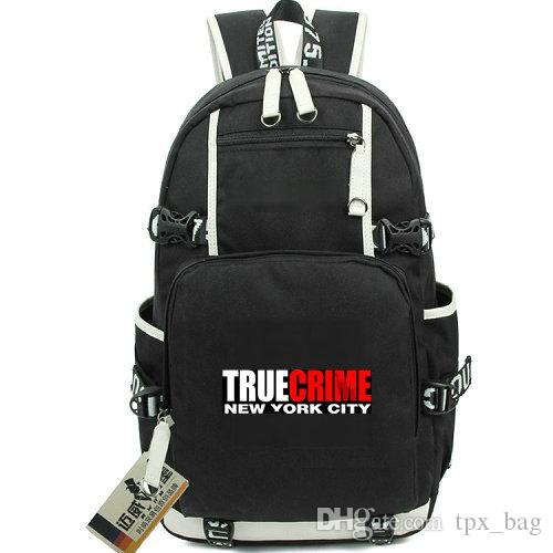 51aadda7e9 True Crime Daypack New York City Backpack Aspyr Game Schoolbag Leisure Rucksack  Canvas School Bag Outdoor Day Pack College Backpacks Girl Backpacks From ...