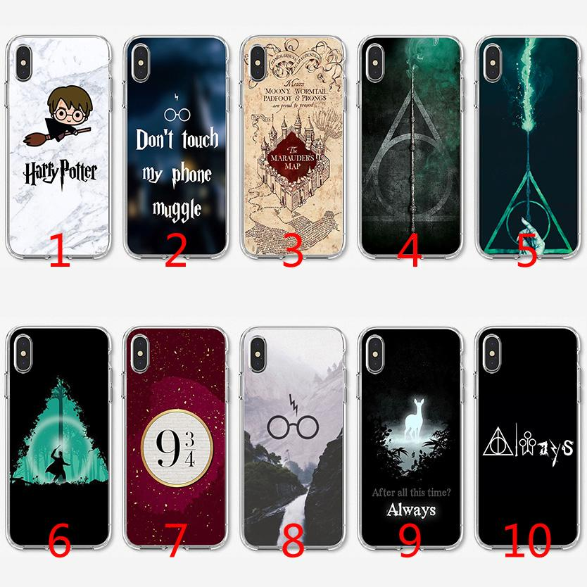 Coque TPU Harry Potter en silicone souple pour iPhone X XS Max XR 8 7 Plus 6 6 Plus 5 5S SE Couverture