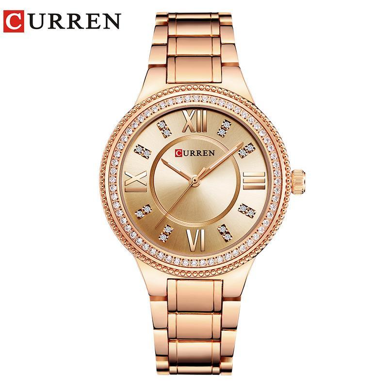 ea1f975b072 Compre 2018 Relogio Curren Mulheres Relógios Luxo Ouro Preto Completo Aço  Dress Jóias Relógio De Quartzo Senhoras Moda Elegante Relógio 9004 De ...