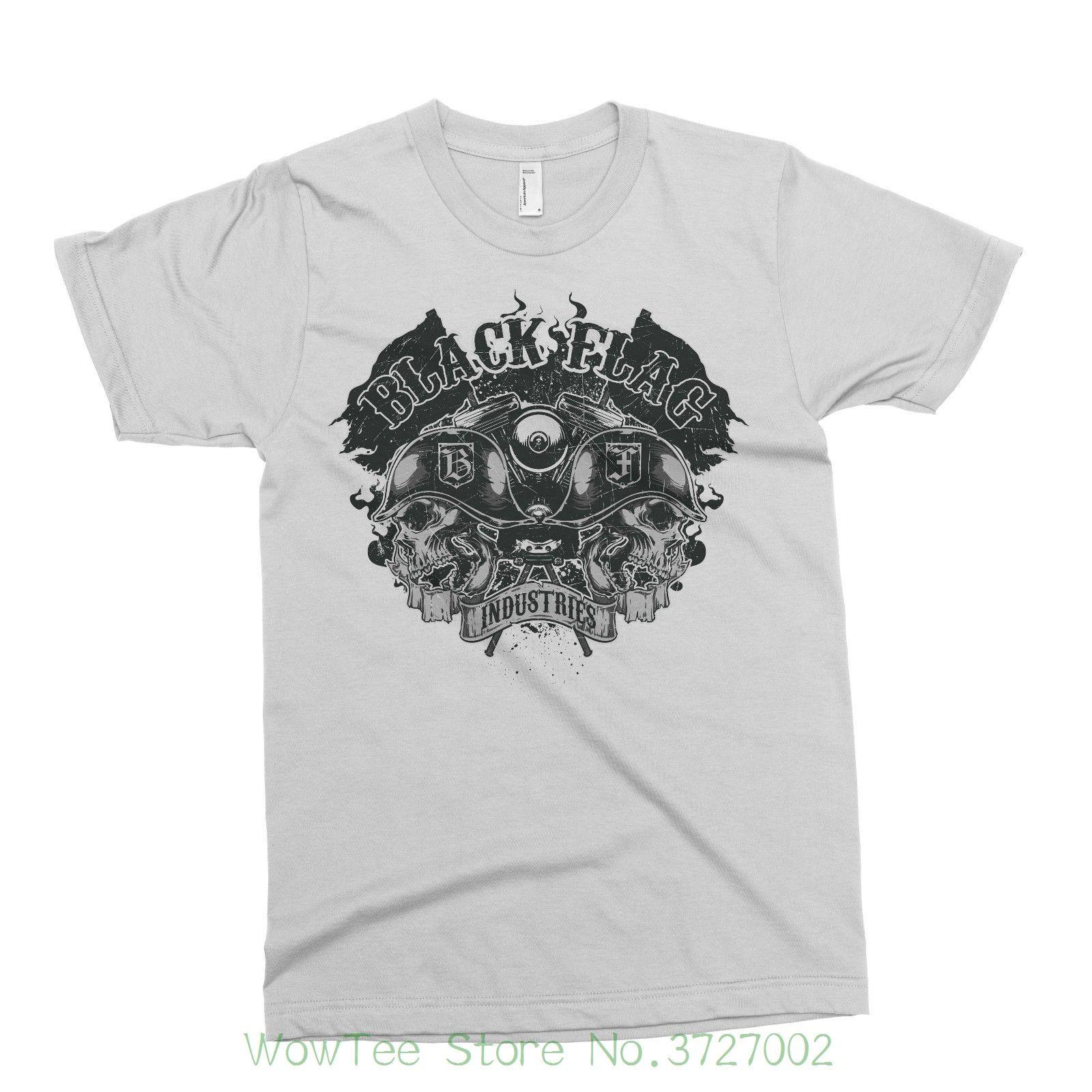Acquista Flag Zombie Asylum T Shirt Tattoo Black Industries nP0vN8mwOy