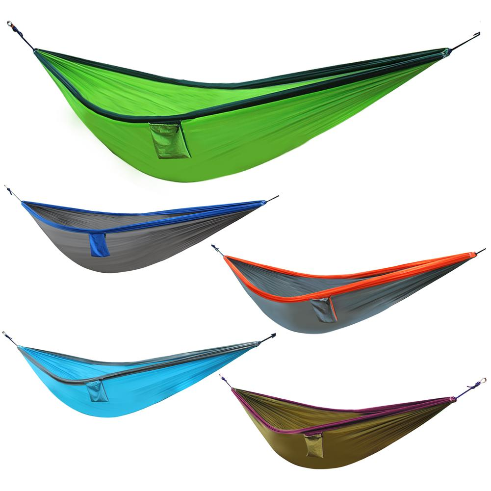 New Portable Nylon Hammock 300 X 200cm Parachute Fabric For Travel Hiking Backpacking Camping Max bearing weight 250kg