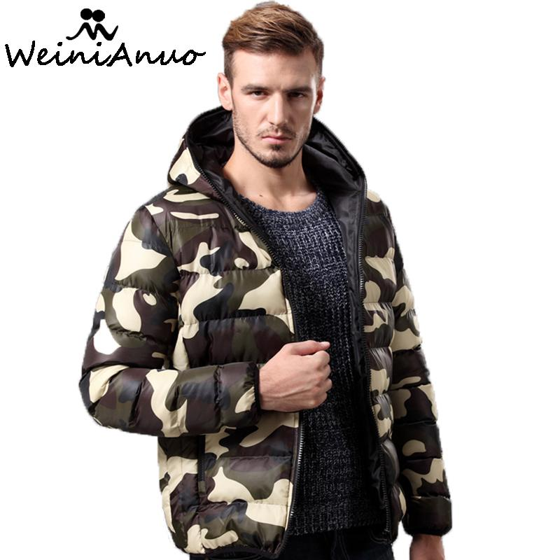Wholesale Camouflage Brand Men s Winter Thick Cotton Coats Hoodies Outwear Male Warm Coat Men Casual Warm Down Jacket Parka Thick Mens 217
