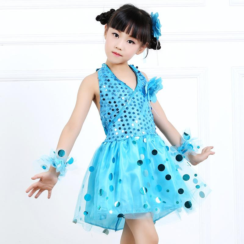 6b6f193dc 2019 Children Clothing Girls Sequined Dance Clothes Students Dance ...