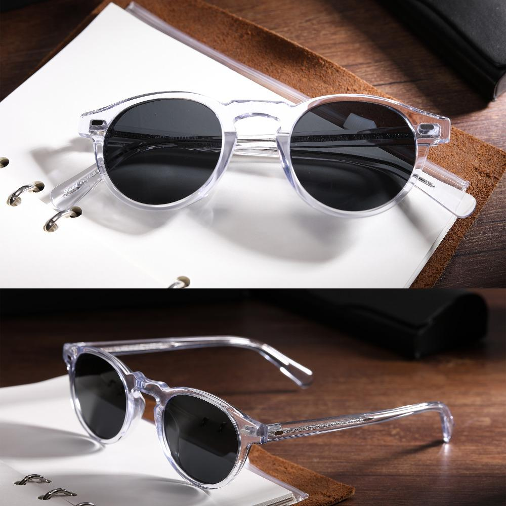 b03fe985a3 High Quality Oliver Peoples Ov5186 Men And Women Clear Frame Sunglasses  Gregory Peck Polarized Round Sunglasses Oculos De G Spitfire Sunglasses  Native ...