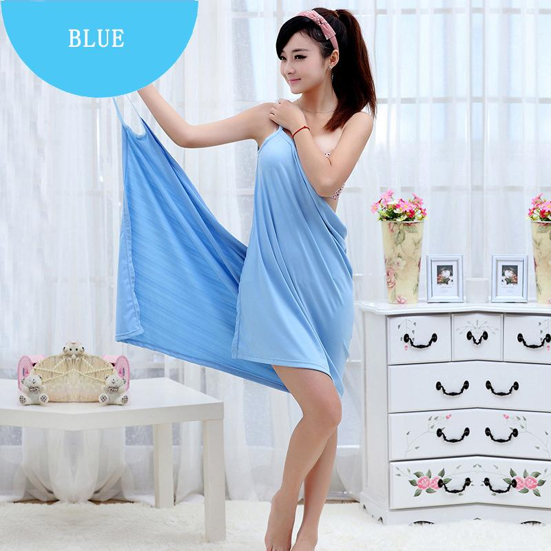 c18291db56 Cute Lady Bath Towels Girls Wearable Fast Drying Magic Bath Towel Beach Spa  Bathrobes Skirt Soft Easy Towel For Woman Best Towel Grey Bath Towels From  ...