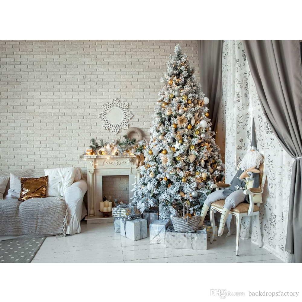 2018 Indoor Brick Wall Baby Kids Christmas Background Home Party ...
