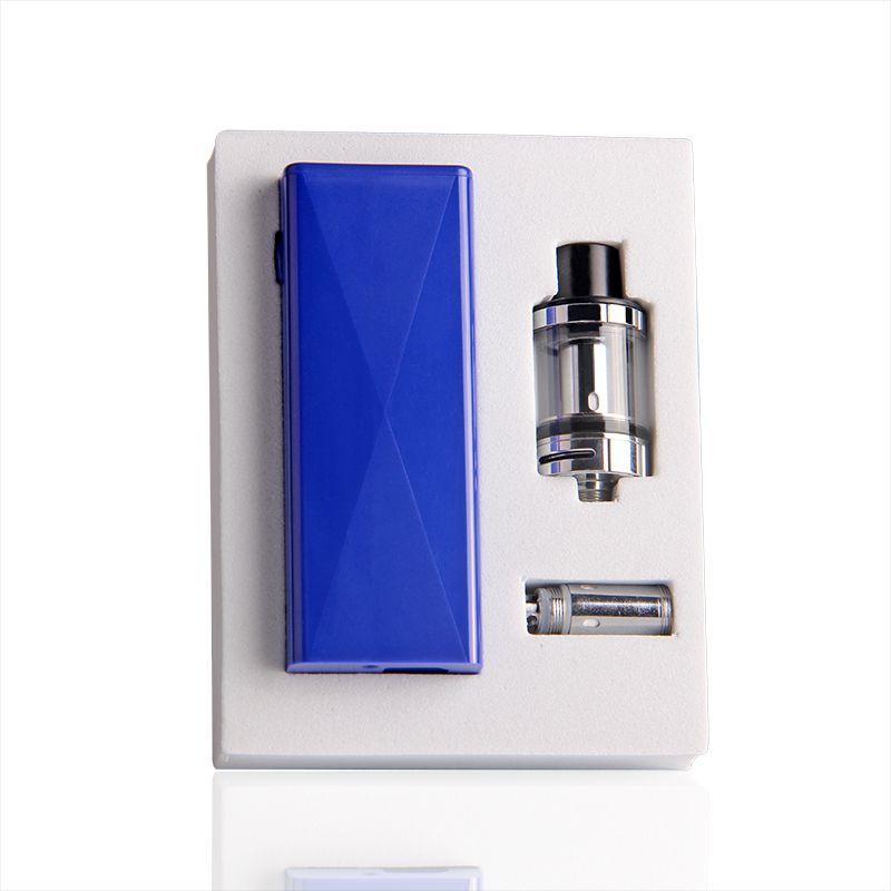 Kit di avviamento sigarette ECT Cube 40W e autentico con mod vape VW 2200mah incorporato e 2.0 ml di rabbocco superiore ECT Kenjoy Elfin