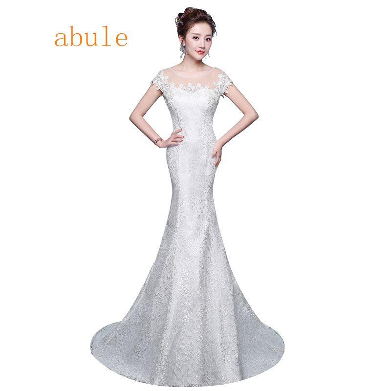 Classic Wedding Dress Design Sexy Lace Vintage Simple Elegant