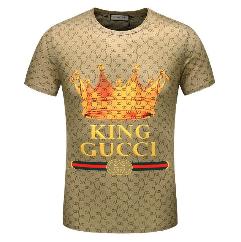 1ef8b011 2018 Mens T Shirts For Hot Letters Crown Printed T Shirt Fashion Breathable  Male Slim Sport Zhongou Cool Tees Online Shirt On T Shirt From  Apparel_lingke, ...