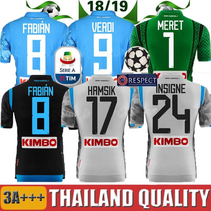 2018 2019 Camiseta De Fútbol Local Napoli 18 19 Nápoles ZIELINSKI HAMSIK  INSIGNE MERTENS JUGADOR DE CALLEJON VERD TERCER Camiseta De Fútbol De  Camisetas Por ... e97ea092ab557