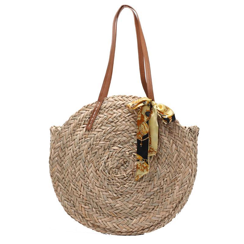 Acquista 2018 Bali Borse Paglia Rotonda Donna Estate Borsa In Rattan Tessuti  Fatti A Mano Spiaggia Cross Body Bag Cerchio Boemia Borsa Drop Shipping A  ... 76d3d96b7d1